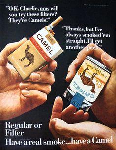 Camel cigarettes ads