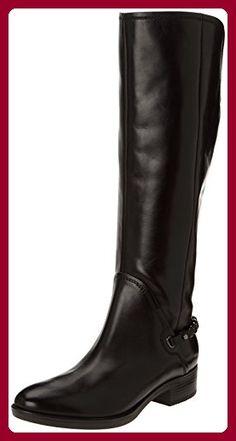 Geox D FELICITY, Damen Reitstiefel, Schwarz (BLACKC9999), 41 EU (7.5 Damen UK) - Stiefel für frauen (*Partner-Link)
