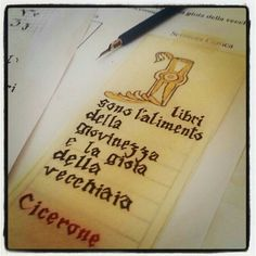 Gothic calligraphy workshop in Cesena - Instagram by @giuliaccia