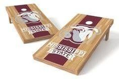 Mississippi State Bulldogs Single Cornhole Board - Court