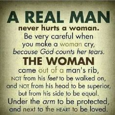 Never make a woman cry