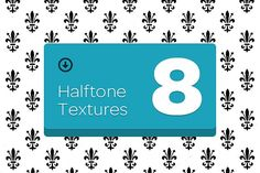 8 Halftone Textures by Riccardo Anelli on @creativemarket