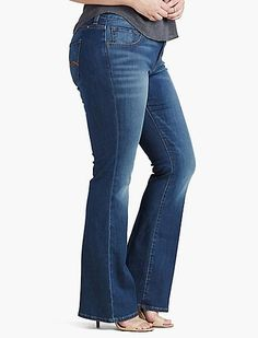 41641e54f4c Plus Size Ginger Bootcut Jean In Amazonite