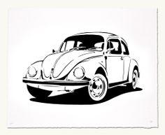 VW Beetle print by Manual Designs $80.00