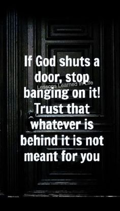 keep trusting, going to Jesus first in everything you do...wait on Him to open a window...He will