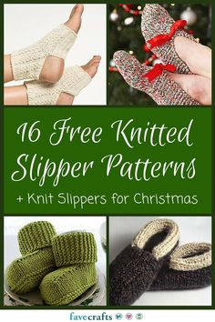 16 Free Knitted Slipper Patterns + Knit Slippers for Christmas | Getting cold feet? Warm them up with one of these gorgeous knitting projects!