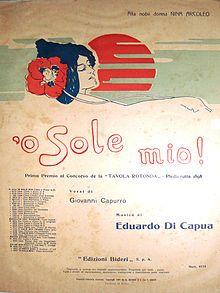 """'O sole mio - O Sole mio"""" è unacanzoneinlingua napoletanapubblicata nel1898e conosciuta in tutto il mondo. È stata incisa da cantanti di tutte le lingue. Giovanni Capurro, giornalista e redattore delle pagine culturali del quotidianoRomadi Napoli, nel1898scrisse i versi della canzone affidandone la composizione musicale aEduardo Di Capua. In quel tempo Di Capua si trovava aOdessa, inUcraina, con suo padre, violinista in un'orchestra. La musica sembra sia stata ispirata da una…"""