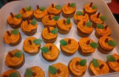 super cute cupcakes for a fall party! :)