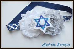 Hanukkah Headband, Star of David, Chanukah Headband, Blue White Holiday Headband,  Headband for Newborn, Baby, Toddler, Kids, Teens, Adult by RocktheBowtique on Etsy