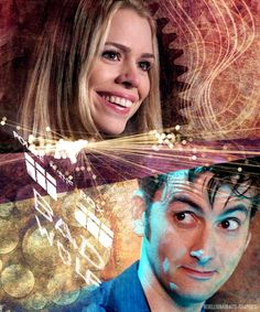 Doctor Who - Ten and Rose. Yes, I reblogged AND pinned this, it's so amazing!