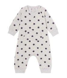 Combinaison bébé garçon en molleton imprimé gris Beluga / gris Maki - Petit…