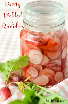 A super easy recipe for sugar free pickled radishes that make the perfect addition to salads and sandwiches for summer