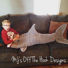 Crochet Shark Blanket Pattern