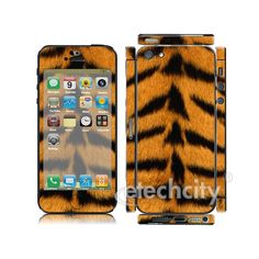 Animal Pattern Skin Cover Screen Protector for Apple iPhone 5 (Style 3) [CCSK-PHVPL19] - $12.00 : Tiger pattern