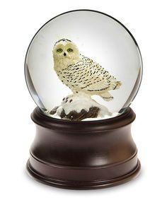 This Snowy Owl Snow Globe by The San Francisco Music Box Company is perfect! #zulilyfinds