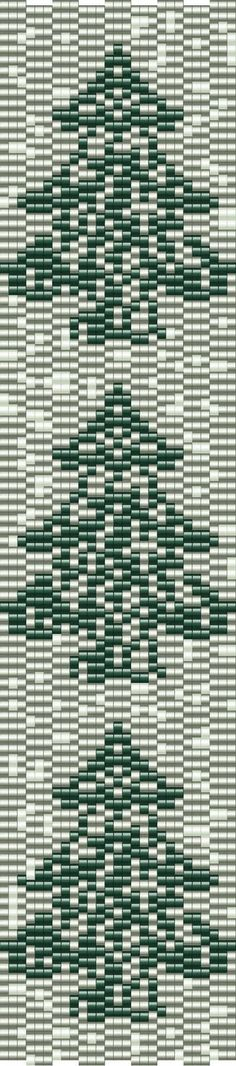 trees on silvery snow Beading Patterns Free, Bead Loom Patterns, Peyote Patterns, Beading Tutorials, Beaded Braclets, Beaded Bracelet Patterns, Motifs Perler, Beaded Banners, Beaded Christmas Ornaments