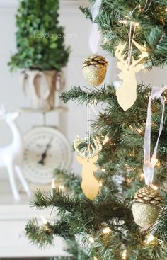 Easy Clay Silhouette Ornaments