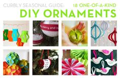 18 DIY Ornament ideas!