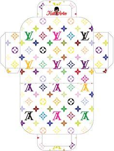 Louis Vuitton Style Printable Bag (White Back) - Bolsos para Imprimir Gratis - Oh My Fiesta! Box Template Printable, Printable Paper, Free Printables, Templates, Paper Toys, Paper Crafts, Miniature Crafts, Diy Box, Doll Crafts