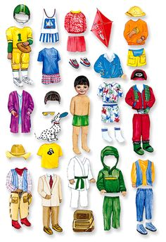 dress up dolls for learning about weather!
