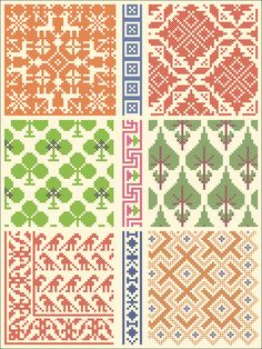 All Over pattern / chart for cross stitch, crochet, knitting, knotting, beading, weaving, pixel art, and other crafting projects