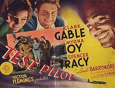 Test Pilot movie poster, 1938, Clark Gable