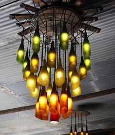 Wine glass chandelier #diy #diyideas #diyprojects by diyprojectsdotcom