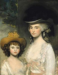 "Gilbert Stuart – American) ""Mrs Blades and her Daughter"" Gilbert Stuart, L'art Du Portrait, Old Portraits, Fashion Painting, Woman Painting, Beautiful Paintings, American Artists, Art History, Art Gallery"