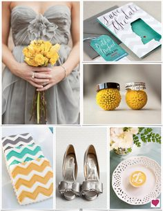 I love so much about this board, from the color scheme to ring shots and amazing cookies! Modern Teal, Gray and Yellow Wedding Inspiration Board Wedding Crafts, Diy Wedding, Dream Wedding, Wedding Ideas, Wedding Things, Wedding Stuff, Wedding Styles, Wedding Decor, Wedding Color Schemes