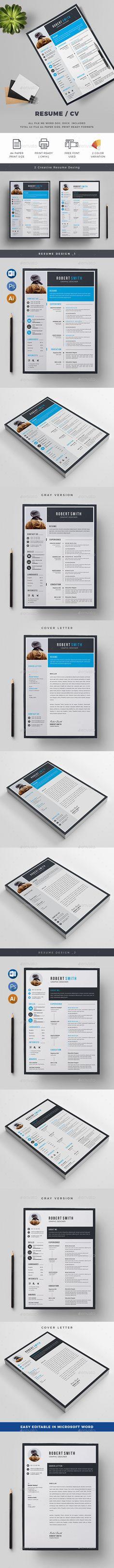 #Resume/CV - Resumes Stationery Download here: https://graphicriver.net/item/resumecv/19968608?ref=alena994