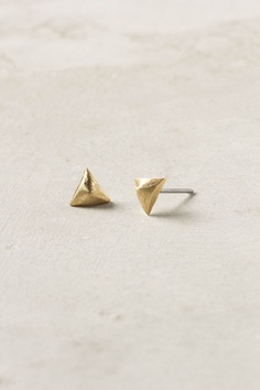Mini Pyramid Earrings - Anthropologie.com