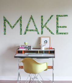 Renter-Friendly DIY Typography Wall Art » Curbly
