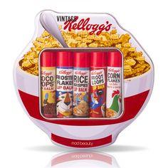 Kellogg's Retro 70's Cereal Bowl Shaped Tin and 5 Balms