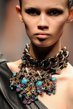 Lanvin Spring 2010 Brass Breastplate Necklace - Awesome! In a parallel universe I own this ^^
