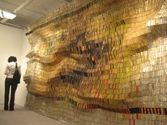 El Anatsui once again. This one is particularly impressive due to the fact that it has so much texture and depth to it.