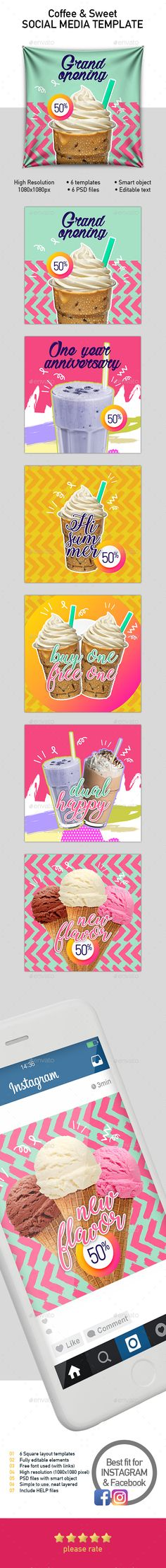 ads, banner, cocktail, coffee, colorful, drink, F&B, facebook, food, instagram, instargam, juice, memphis, minimalist, modern, photo collage, photography, photos, Pinterest, promotion, smoothie, social media, square banner, template, templates, trendy, young