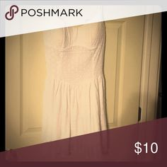 WHITE tank dress! White tank dress size medium. Small stain on bottom. Can be removed with dry cleaning! Dresses