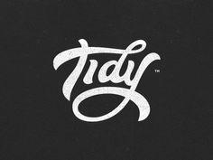 Tidy hand-lettered logotype by Gert van Duinen (cresk)