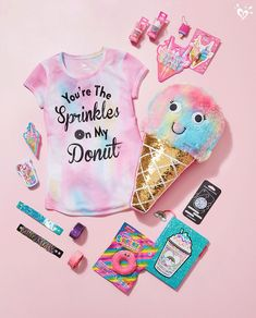Life is sweet. Shop the Treat Boutique for candy-coated-fun style toys & accessories. - June 30 2019 at Unicorn Fashion, Unicorn Outfit, Cute Unicorn, Unicorn Party, Unicorn Clothes, Rainbow Unicorn, Justice School Supplies, Cool School Supplies, Cute Girl Outfits