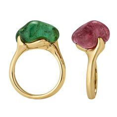 Nicholas Varney Tourmaline Stacking Rings. the organic shapes are lovely.