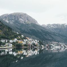 Early morning in Odda, Norway