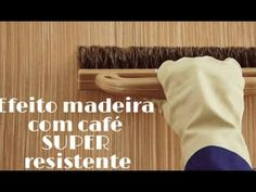 Efeito Madeira com café SUPER resistente na parede   #cafeecola - YouTube Cardboard Furniture, Diy Furniture, Experiment, Wood Colors, Decoupage, Diy Projects, Painting, Youtube, Country
