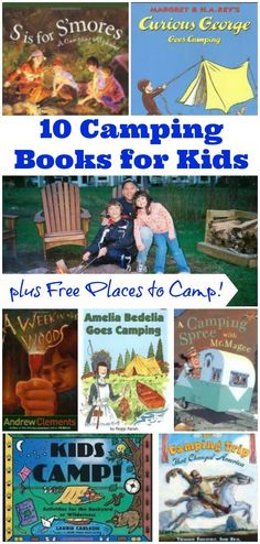 10 Books for Your Next Camping Trip + *Free* Places to go for a Family Camp-out this year!
