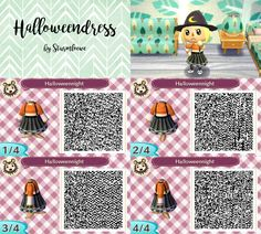 Halloween dress for animal crossing acnl qr code by sturmloewe