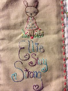 Ellie's Quilt Label: great idea, quilt label with a message/encouragement