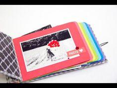 DIY Tutorial Minibook mit Regenbogenseiten