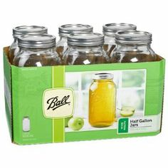 Ball Wide Mouth Canning Jars - any size.  Not only for canning but for storing dry herbs, grains, etc.