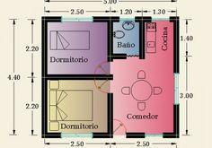 Constructora Sol del Plata – Viviendas Prefabricadas – Construcción de Casas |   2 Dormitorios
