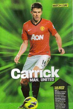Michael Carrick of Man Utd in 2012.