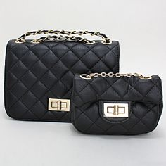 Quilted Diamond Pattern Leather Clutch Bag / 223259